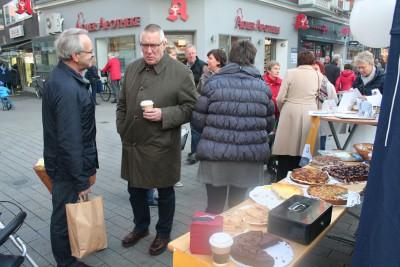 Infostand in Rheines Innenstadt